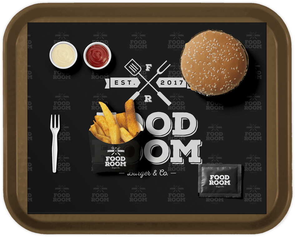 Food Room Tablet mit Essen