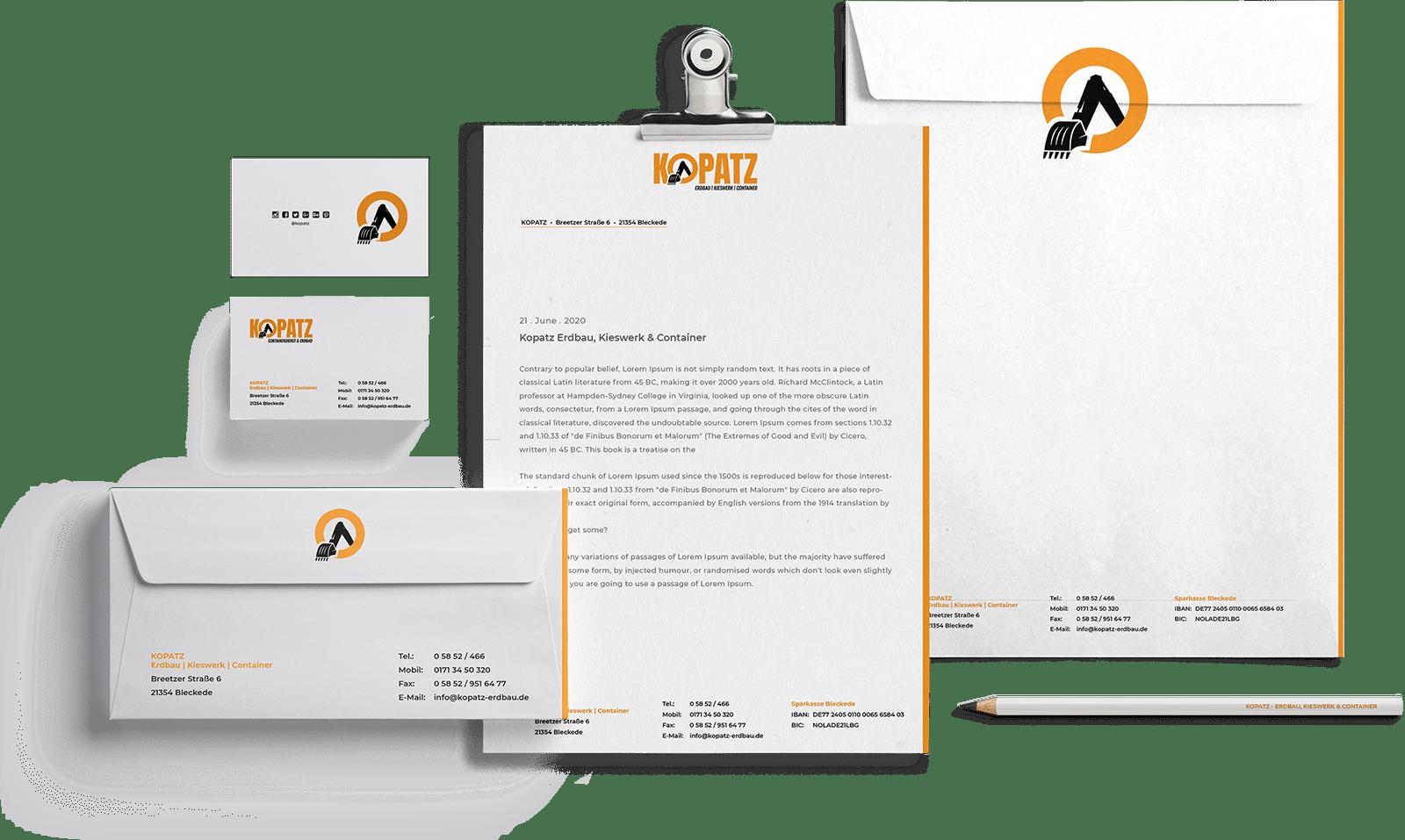 Kopatz Briefpapier und Visitenkarten